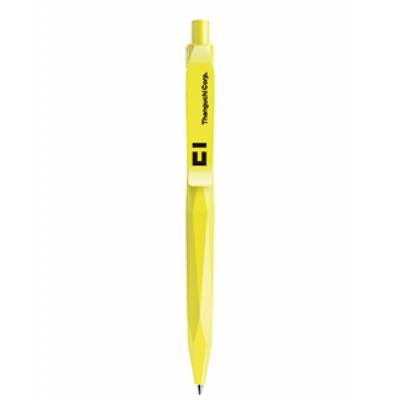 Image of Promotional Prodir QS20 The Peak Pen. Matt Yellow With Polished Clip And Button