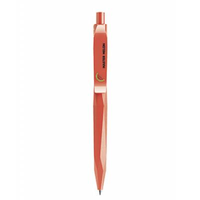 Image of Branded Prodir QS20. The Peak Pen In Matt Red With Polished Clip