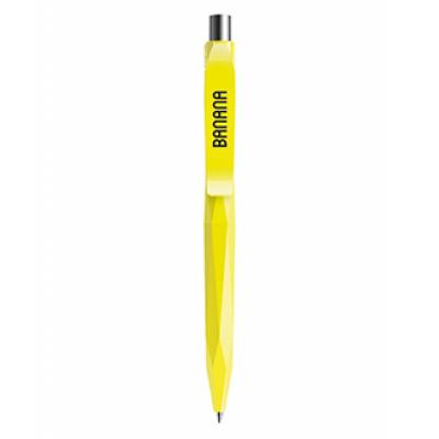Image of Promotional Prodir QS20. The Peak Pen. Soft Touch Yellow With Chrome Metal Button