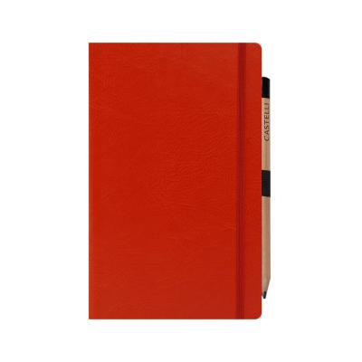 Image of Branded Sherwood Medium Ruled Notebook With Colour Coordinated Closure Band