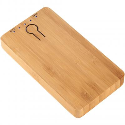 Image of Promotional Bamboo Power Bank. Executive Power Bank 5000mAh