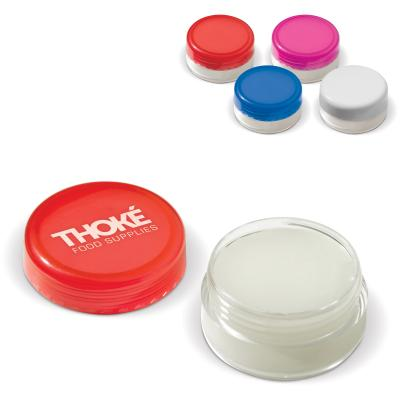 Image of Full Colour Printed Lip Balm In Transparent Pot