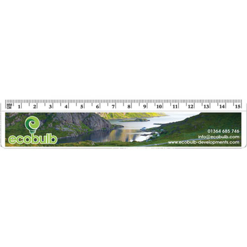 promotional printed ruler 15cm 6 inch 4 colour screen print or 6 colour digital print express time