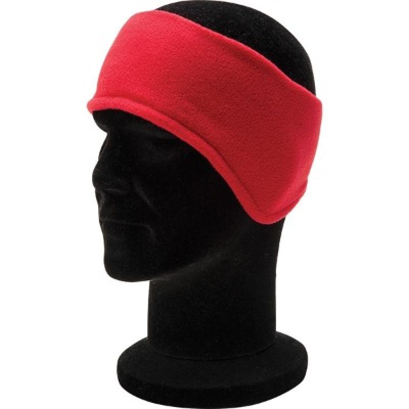 Promotional embroidered fleece ear warmers woven or