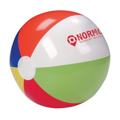Image of Promotional striped Inflatable Beach Ball. Diameter 24 cm.