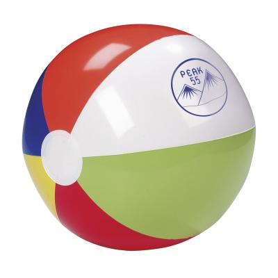 Image of Printed Multicoloured Beach Ball. 30cm