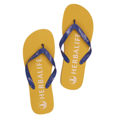 Image of Promotional Beach Flip Flops. Mix And Max Sole And Strap Colours
