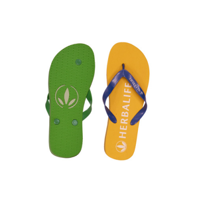 Image of Debossed Flip Flops. Full Colour Printed flip Flops