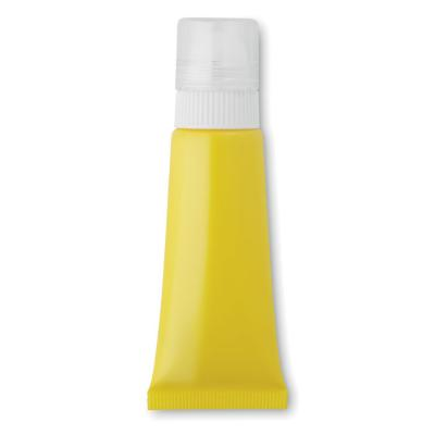 Image of Promotional Sun Lotion Tube. Printed Sunscreen SPF30. Yellow