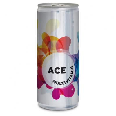 Image of Branded Multivitamin Juice Canned Drink. 250ml. Full Colour Print