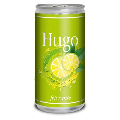 Image of Full Colour Printed Canned Sparkling Wine With Elderflower And Mint.