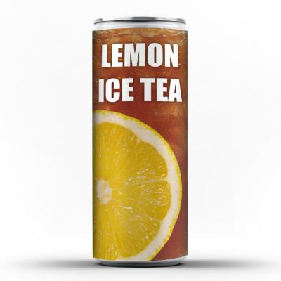 Image of Branded Lemon Ice Tea – Can. With Full Colour Print.