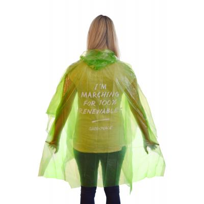 Image of Promotional Biodegradable Rain Poncho. Printed Rain Mac
