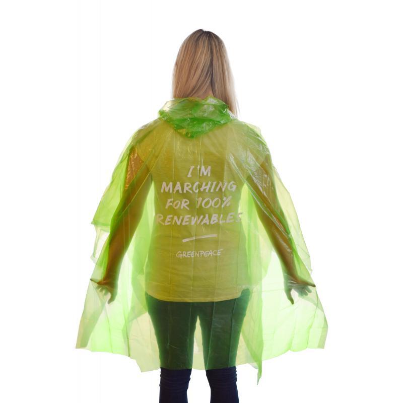 Promotional Biodegradable Rain Poncho  Printed Rain Mac