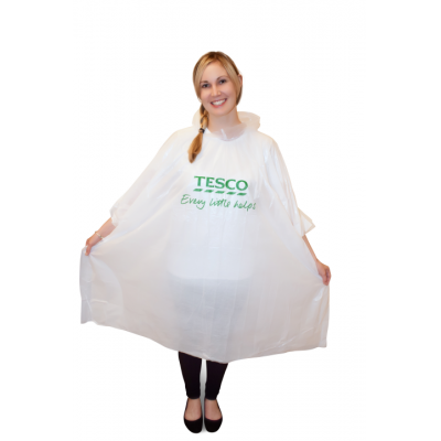 Image of Printed Rain Poncho. Promotional Disposable Rain Mac