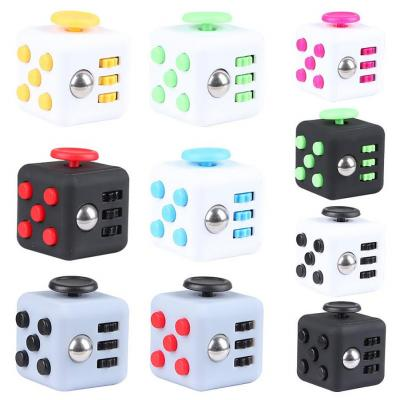 Image of Promotional Fidget Cube. Printed Stress Relief Toy Cubes