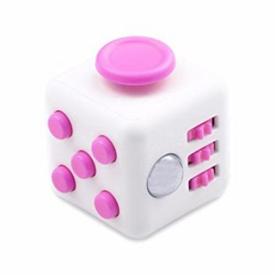 Image of Promotional Fidget Cube. Printed Fidget Box Cubes. Pink