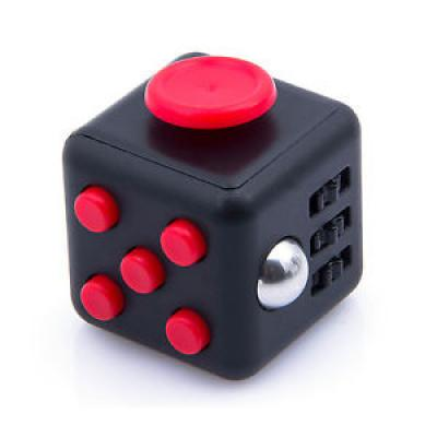 Image of Promotional Fidget Cube Red. Printed Fidget Box Cubes