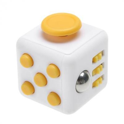 Image of Full Colour Printed Fidget Cube Yellow. Promotional Fidget Box Cubes