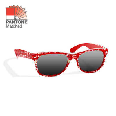 Image of All Over Printed Sunglasses. Pantone Matched