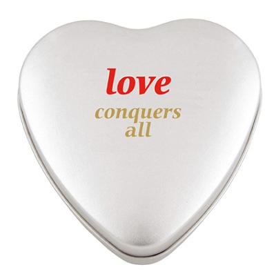 Image of Promotional Large Heart Shaped Tin Filled With Heart Sweets