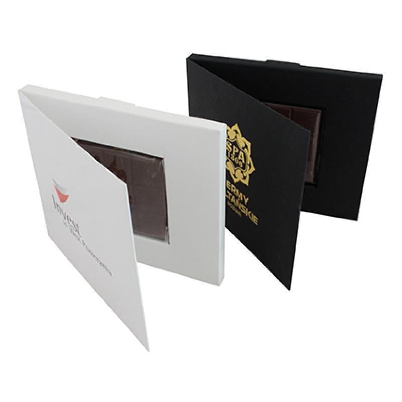 Promotional Business Card Holder With A 25g Belgian Chocolate ...