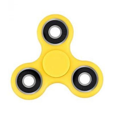 Image of Promotional Fidget Spinner. YELLOW. Printed Fidget Spinner