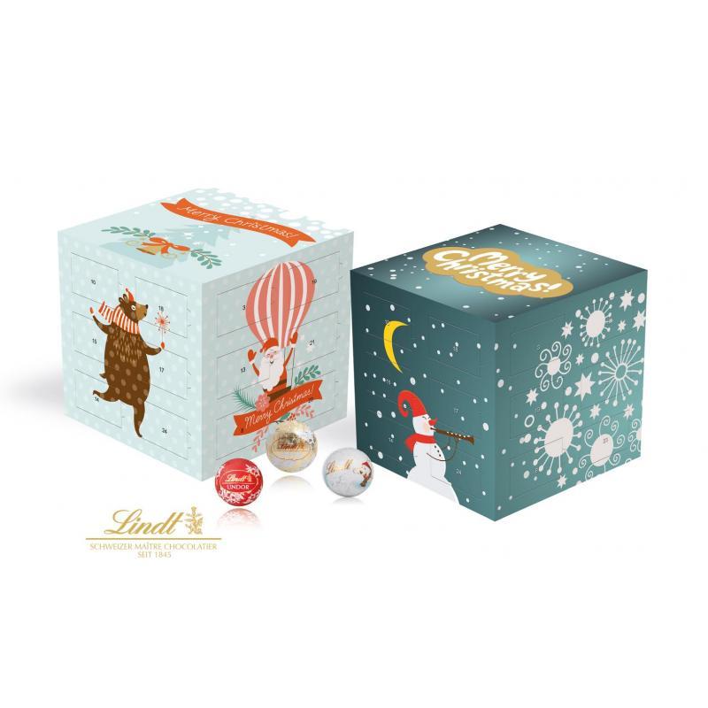 Lindt Promotional Advent Calendar Cube Printed Lindt