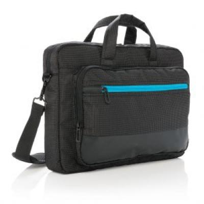 Image of Embroidered Elite USB rechargeable laptop bag.