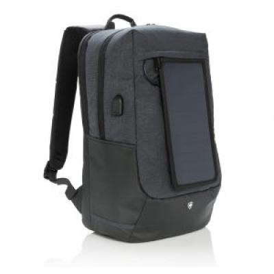 Image of Promotional Swiss Peak Eclipse Solar Backpack With 2 USB Outputs