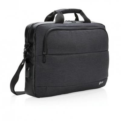 Image of Promotional Swiss Peak 15″ Laptop Bag With Integrated USB Port.