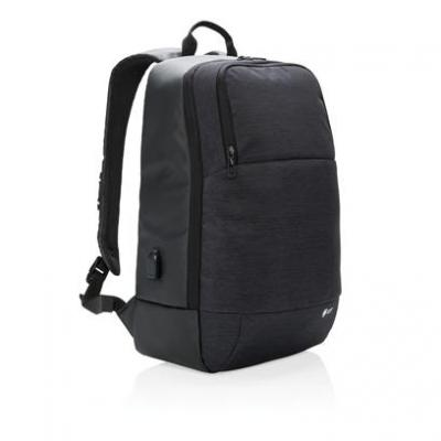 Image of Branded Swiss Peak 15″ Laptop Backpack With Integrated USB Port