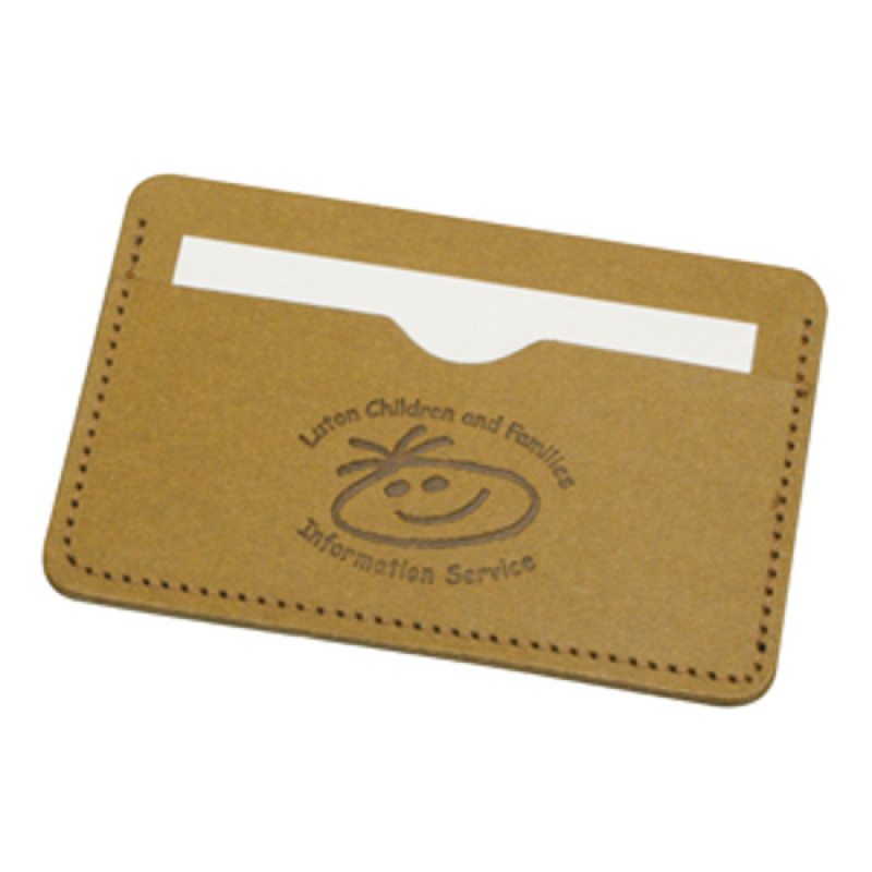 Embossed eco natural business card wallet made from recycled leather embossed eco natural business card wallet made from recycled leather reheart Images
