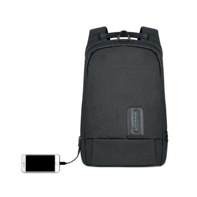 Image of Promotional backpack bag with built in 8000 mAh power bank