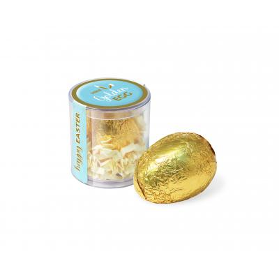 Image of Promotional Gold Foil Wrapped Chocolate Easter Egg. 60g