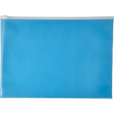Image of Printed A4 Transparent PVC document folder blue