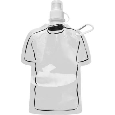 Image of Promotional Football Themed Folable Bottle, Reusable T Shirt Bottle White