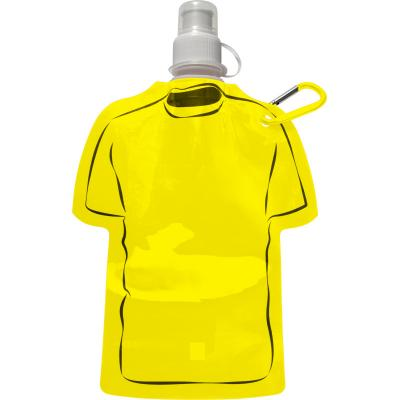 Image of Branded Football Themed Folable Bottle, Reusable T Shirt Bottle Yellow