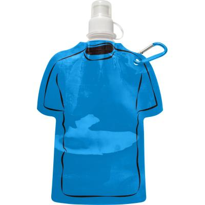 Image of Promotional Football Themed Folable Bottle, Reusable T Shirt Bottle light Blue