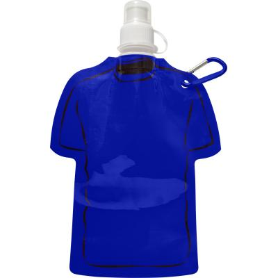 Image of Printed Football Themed Folable Bottle, Reusable T Shirt Bottle Cobalt Blue