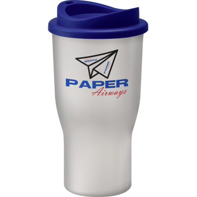 Image of Branded Challenger reusable coffee cup White. UK Manufactured