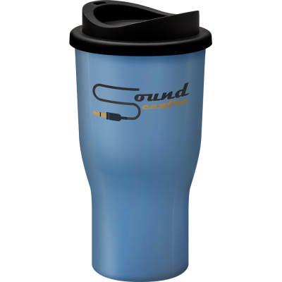 Image of Promotional Challenger reusable coffee tumbler Light Blue. BPA free