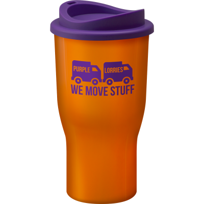 Image of Promotional Challenger reusable coffee cup, Manufactured in the UK Orange