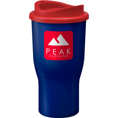Image of Printed Challenger reusable coffee tumbler, Manufactured in the UK, Blue