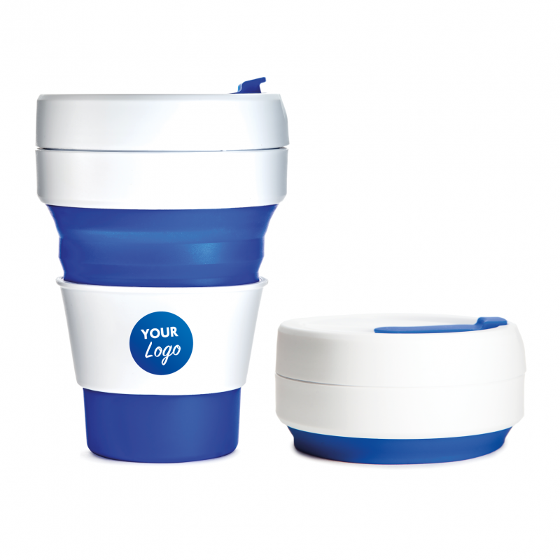 promotional stojo collapsible coffee mug blue collapsible. Black Bedroom Furniture Sets. Home Design Ideas
