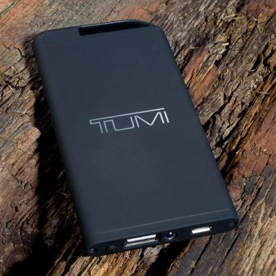 Image of Promotional Theta 4000 mAh power bank with a modern black rubber finish