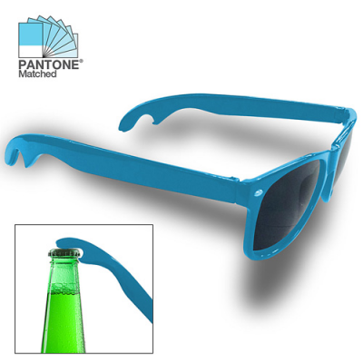 Image of Promotional Pantone Matched Sunglasses With Bottle Opener To Arms