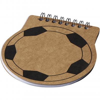 Image of Promotional Score Football Shaped Notebook. Great for World Cup 2018