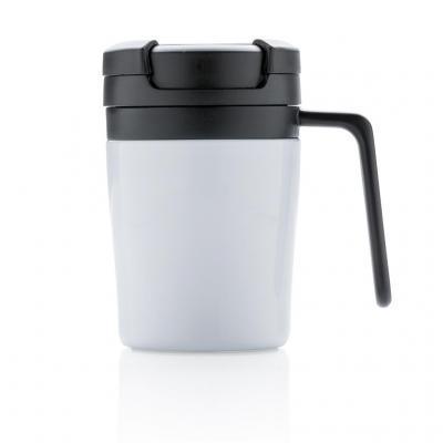 Engraved Cork Band Reusable Glass Coffee Keep Cup