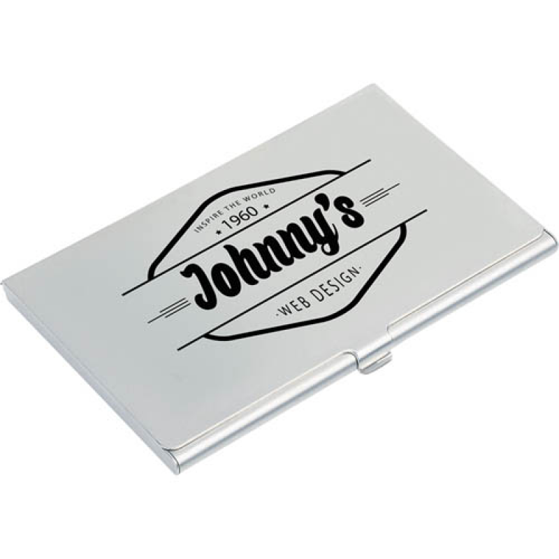 Aluminium business card holder card holders promobrand aluminium business card holder reheart Gallery